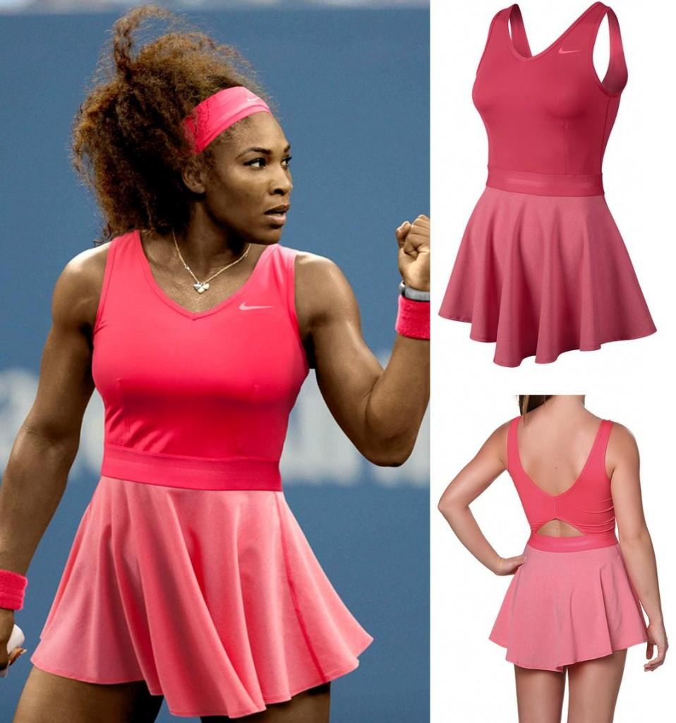 Serena Williams in her 2013 US Open Day Dress by Nike