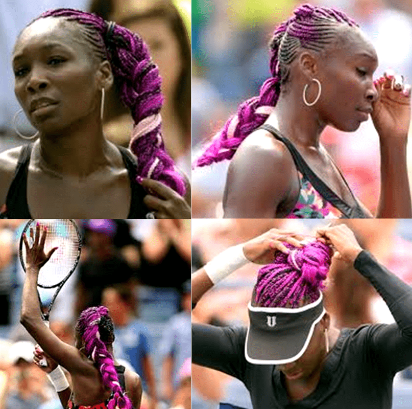 2013 US Open Venus Williams Purple Hair