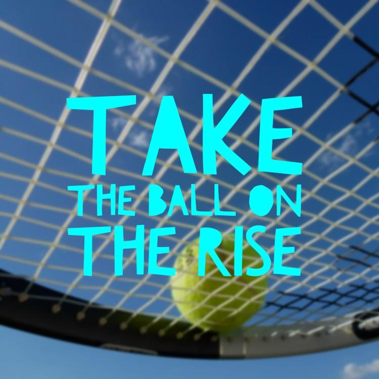 Simple Tennis Tip - Take the Ball on the Rise