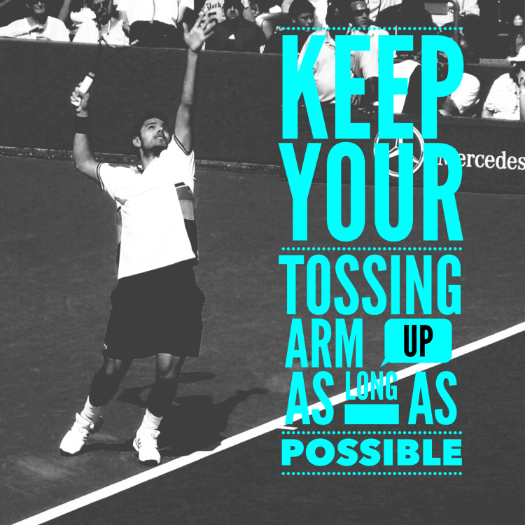 Simple Tennis Tip - Keep Your Tossing Arm Up